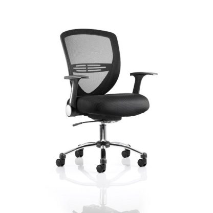 An Image of Avram Home Office Chair In Black With Castors