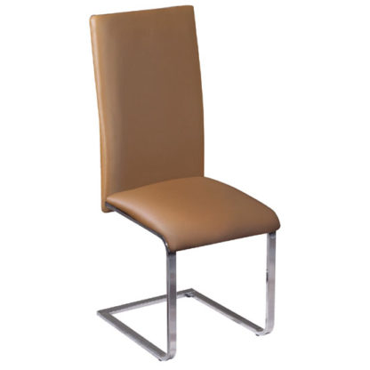 An Image of Arizona Brown Faux Leather Dining Chair
