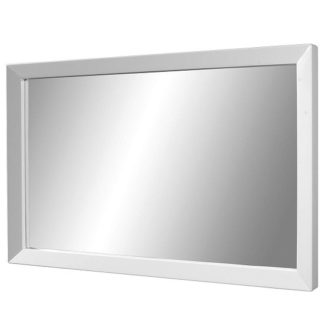 An Image of Fino Wall Mirror Rectangular In White High Gloss Frame