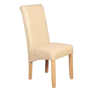 An Image of Sika Leather Air Dining Chair In Cream
