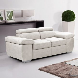 An Image of Amando Fabric 2 Seater Sofa In Beige