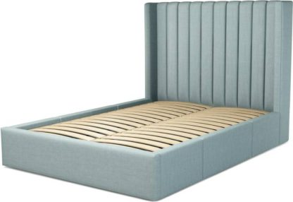 An Image of Custom MADE Cory Double size Bed with Drawers, Sea Green Cotton