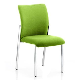 An Image of Academy Fabric Back Visitor Chair In Myrrh Green No Arms