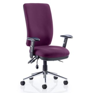An Image of Chiro High Back Office Chair In Tansy Purple With Arms