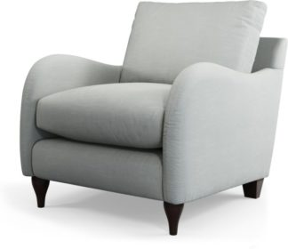 An Image of Custom MADE Sofia Armchair, Athena Dove Grey