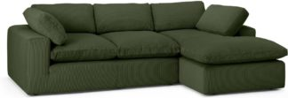 An Image of Samona Right Hand Facing Chaise End Sofa, Sage Corduroy Velvet