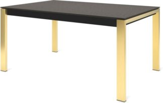 An Image of Custom MADE Corinna 6 Seat Dining Table, Concrete and Brass