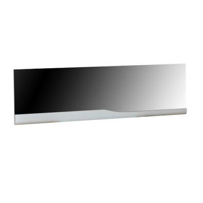 An Image of Merida Wall Mirror Rectangular In White High Gloss