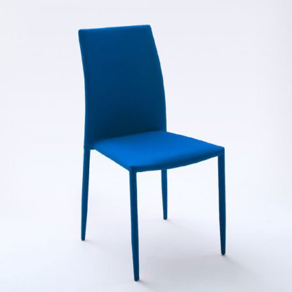 An Image of Mila Upholstered Blue Dining Chair