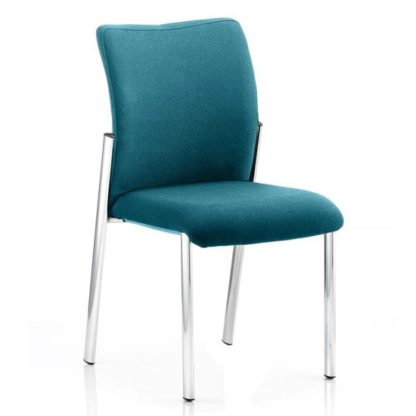 An Image of Academy Fabric Back Visitor Chair In Maringa Teal No Arms