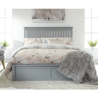 An Image of Como Wooden Ottoman Double Bed In Grey