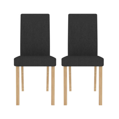 An Image of Anna Grey Finish Dining Chair In Pair