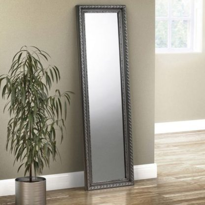 An Image of Allegro Dressing Mirror In Pewter
