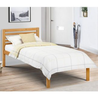 An Image of Slocum Wooden Single Bed In Antique Pine