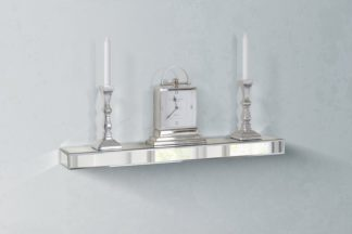 An Image of Mirrored Floating Wall Shelf 90cm