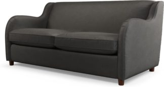 An Image of Custom MADE Helena Sofabed with Memory Foam Mattress, Plush Asphalt Velvet