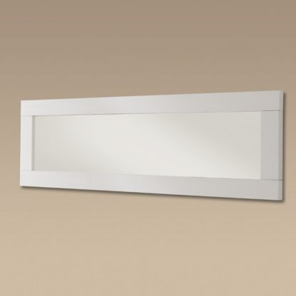 An Image of Garde Wall Mirror In White Gloss