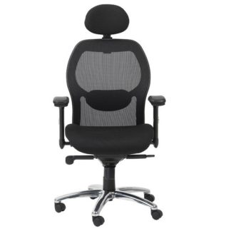 An Image of Premix Designer Mesh Home And Office Chair In Black