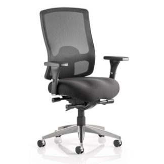 An Image of Regent Office Chair With Black Mesh Seat And Arms