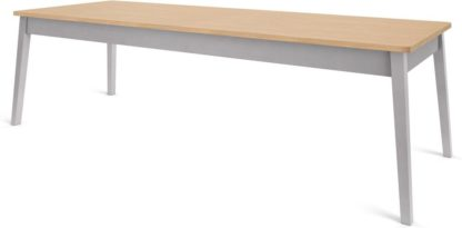 An Image of Custom MADE Harrison Shaker 12 Seat Dining Table, Oak and Grey