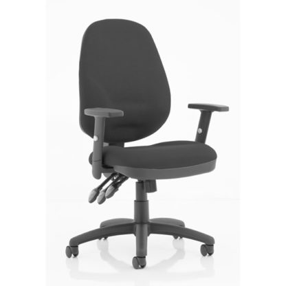 An Image of Eclipse Plus XL Office Chair In Black With Adjustable Arms
