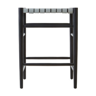 An Image of Formosa Teak Wood Bar Stool In Black