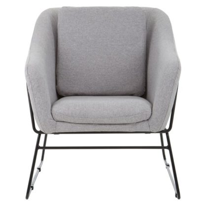 An Image of Porrima Grey Chair With Stainless Steel Legs