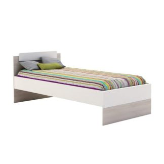 An Image of Carson Wooden Children Single Bed In Acacia And Pearl White