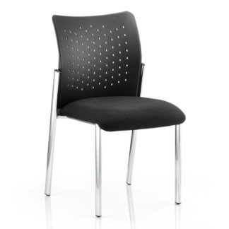 An Image of Academy Office Visitor Chair In Black No Arms