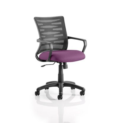 An Image of Eclipse Home Office Chair In Purple With Castors