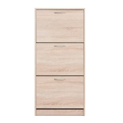An Image of Montrose Shoe Cabinet In Sonoma Oak With 3 Doors