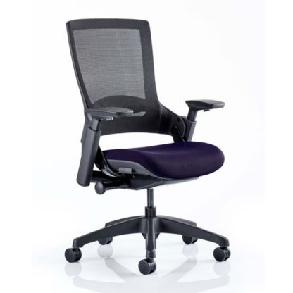 An Image of Molet Black Back Office Chair With Tansy Purple Seat