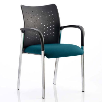 An Image of Academy Office Visitor Chair In Maringa Teal With Arms