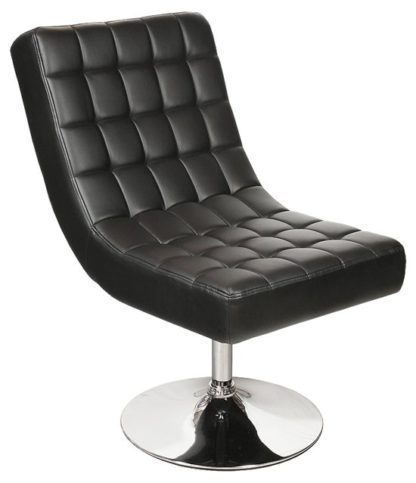 An Image of Contemporary Black Relaxation Lounge Chair