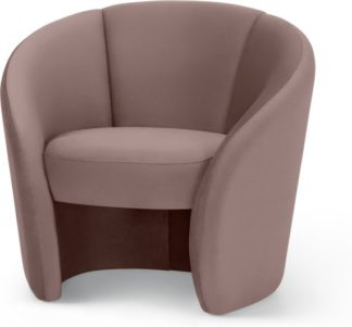 An Image of Abigail Accent Armchair, Pearl Pink Velvet