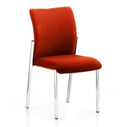 An Image of Academy Fabric Back Visitor Chair In Tabasco Red No Arms