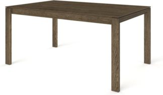 An Image of Custom MADE Corinna 6 Seat Dining Table, Smoked Oak