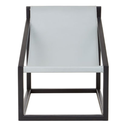 An Image of Formosa Teak Wood Cubic Frame Chair in Grey