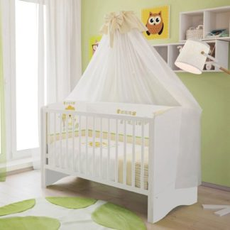 An Image of Corfu Wooden Childrens Cot Bed In White
