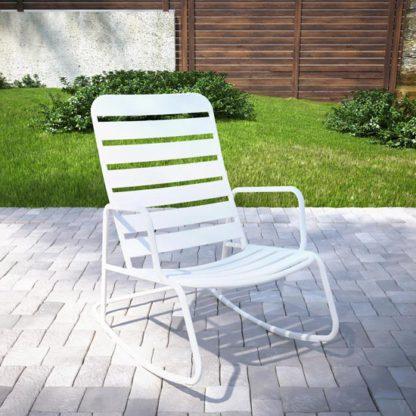 An Image of Novogratz Roberta Rocking Chair In White