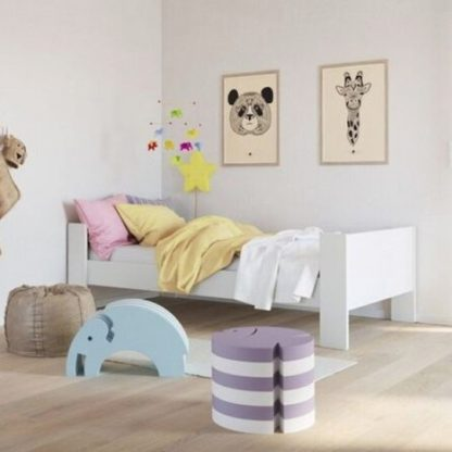 An Image of Memphis Wooden Childern Single Bed In White