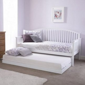 An Image of Madrid Wooden Single Day Bed With Guest Bed In White