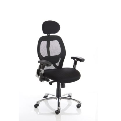 An Image of Coleen Home Office Chair In Black With Castors