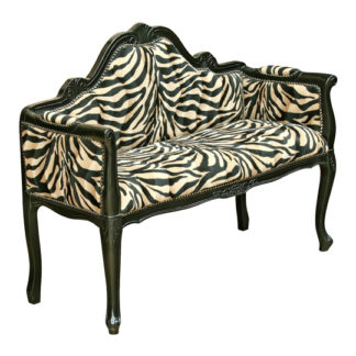 An Image of Italian Miniature Lounge Chaise Chair In Gloss Black