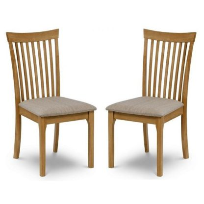 An Image of Lino Wooden Dining Chair With In Oak Sheen Lacquer In A Pair