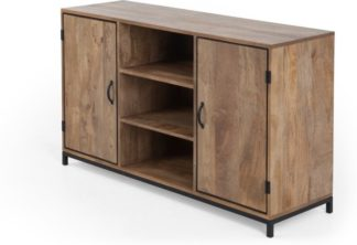 An Image of Lomond Sideboard, Black and Mango Wood