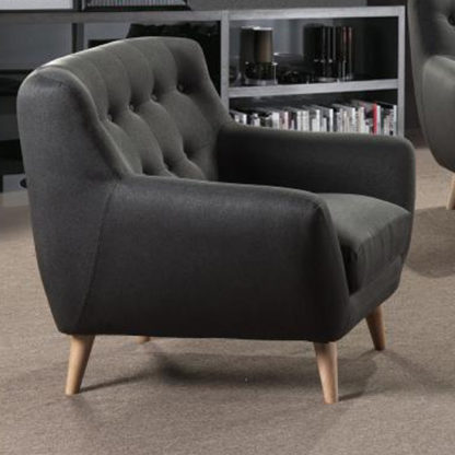 An Image of Rihanna Fabric Upholstered 1 Seater Sofa In Grey