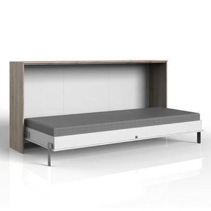 An Image of Juist Wooden Horizontal Foldaway Single Bed In San Remo Oak