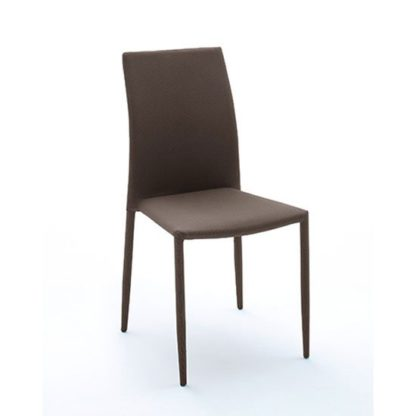 An Image of Mila Upholstered Brown Dining Chair