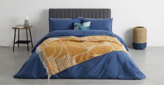 An Image of Cassar Bed Throw, 125 x 170cm, Mustard